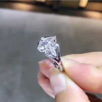 ANI 18 К из белого золота (AU750) обручальное кольцо 0,652 КТ ГИА Certified G/VVS1 маркиза с натуральным Diamond Для женщин Обручение кольцо
