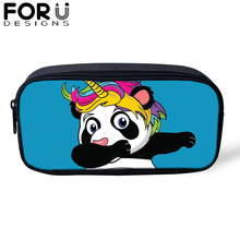 FORUDESIGNS Cute Panda Unicorn Pencil Cases for Kids Students Box Women Girls Large Capacity School Stationery Supplies