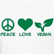 """""""Peace Love Vegan"""" women's shirt / girlie"""