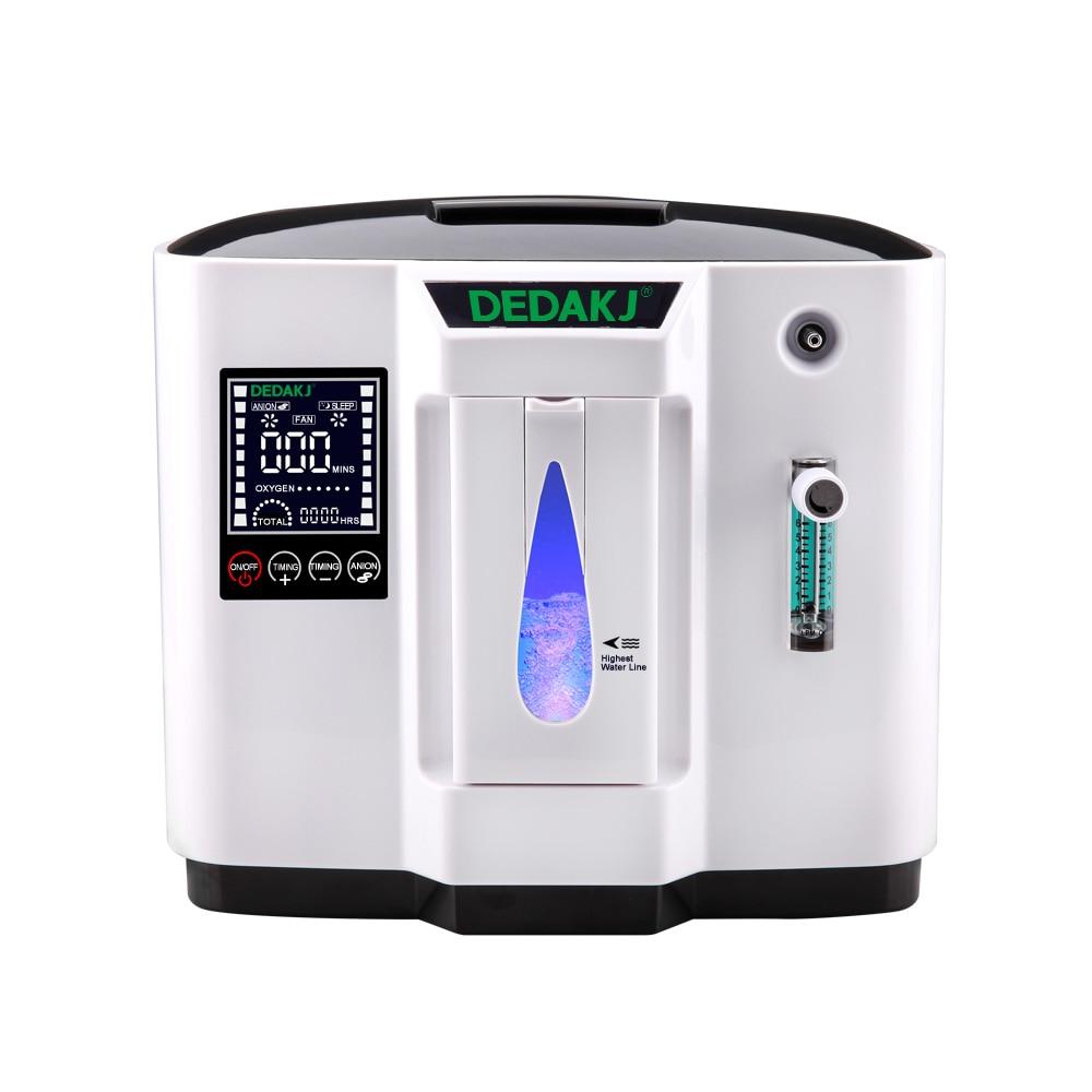 Dedakj DDT-1A/1b ac110v/220 v ajustável portabl oxigênio concentrador gerador de máquina purificador ar casa sem bateria 2 estilos