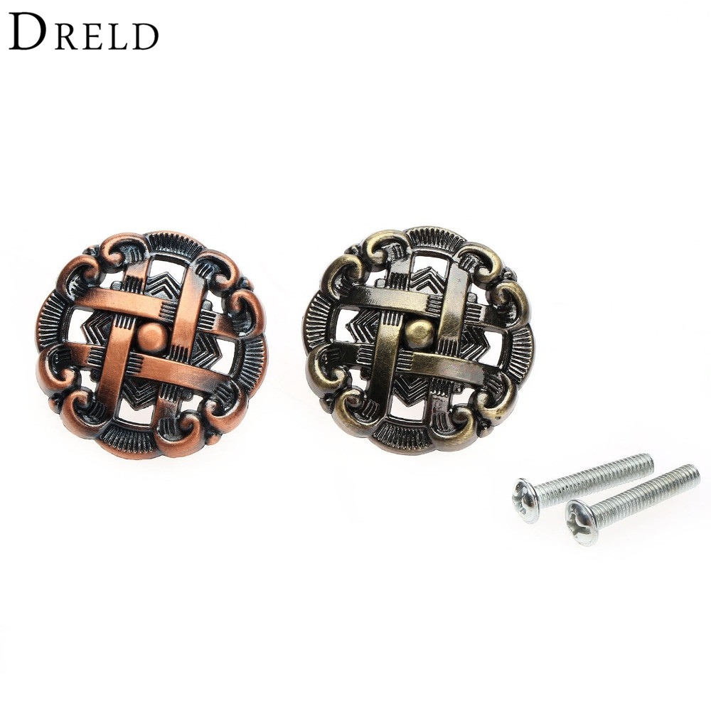 DRELD Antique Furniture Drawer Pulls Handles Cupboard Kitchen Pull Wardrobe Knob Drawer Cabinet Door Knobs and handles top quality for hp laptop mainboard 15 g 764260 501 764260 001 laptop motherboard 100