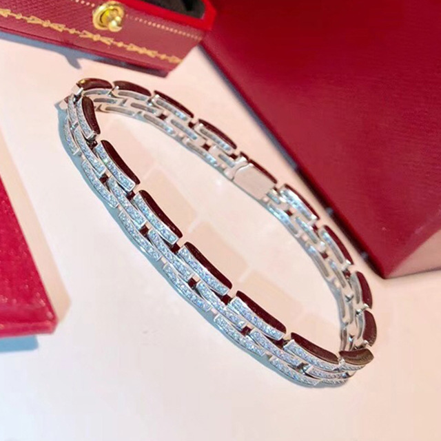Brand Pure 925 Sterling Silver Jewelry For Women Big Chain Design Silver Wedding Jewelry Link Chain Bracelet