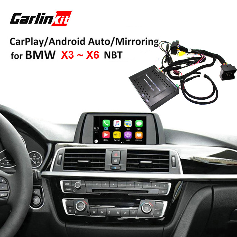 Module d'interface de caméra de recul Carlinkit pour BMW X3 X4 X5 X6 avec système NBT avec miroir Carplay