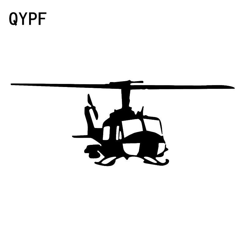 QYPF 18.2cm*7.2cm Characteristic Design Style Helicopter Car Sticker Vinyl Delicate Decal Art Graphical C18-0694