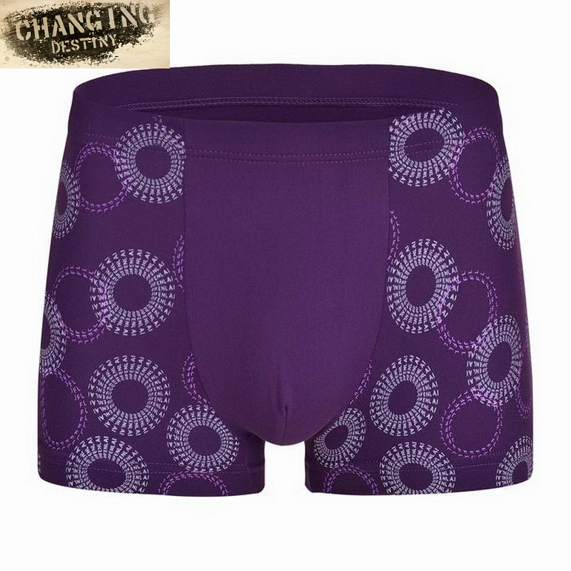 Men Boxers Shorts Male Fashion Sexy Modal Printing Comfortable Underpants Anti Bacterial Breathable Underwear L-XXXL