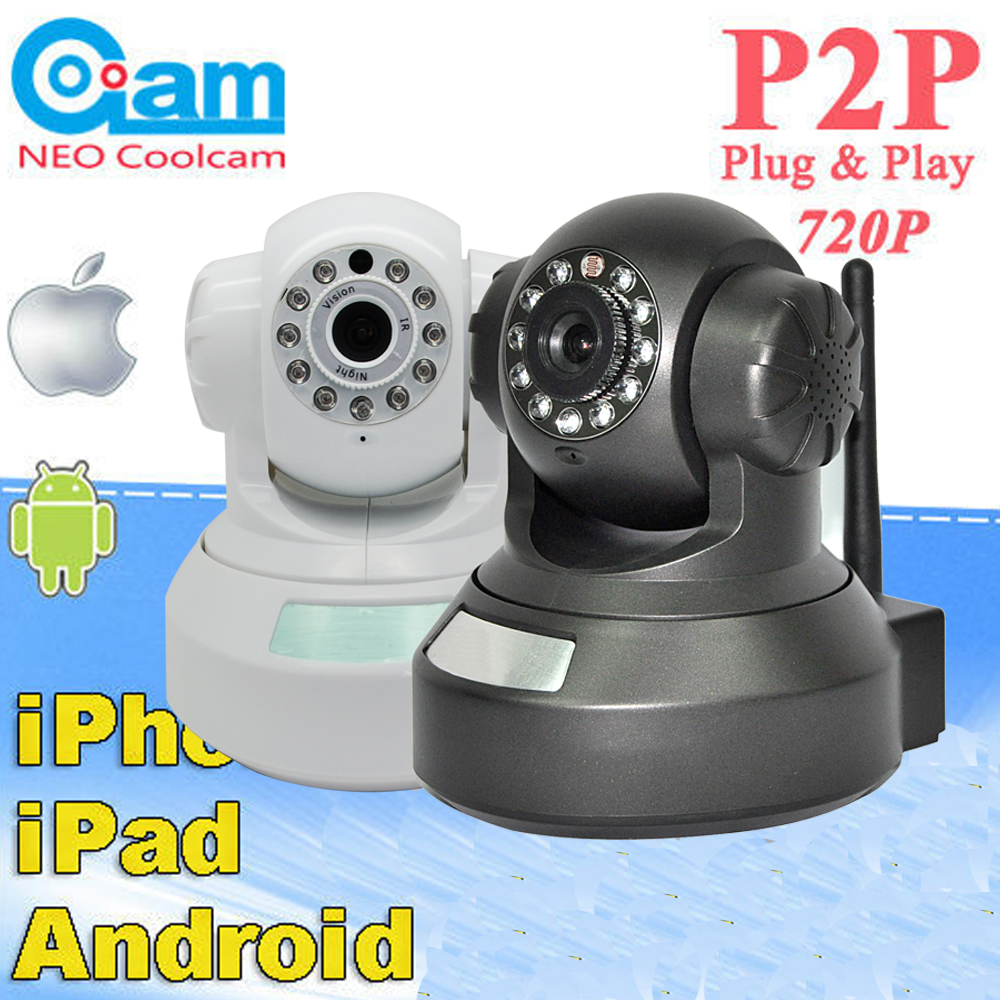NEO Coolcam HD 720P Megapixel Dome IP Camera Wifi Pan Tilt Rotate P2P Wireless support SD Card IR Night Vision Two-way Audio wireless network ip security camera 720p hd ip camera p2p ir cut night vision pan tilt two way audio support 64gb micro sd