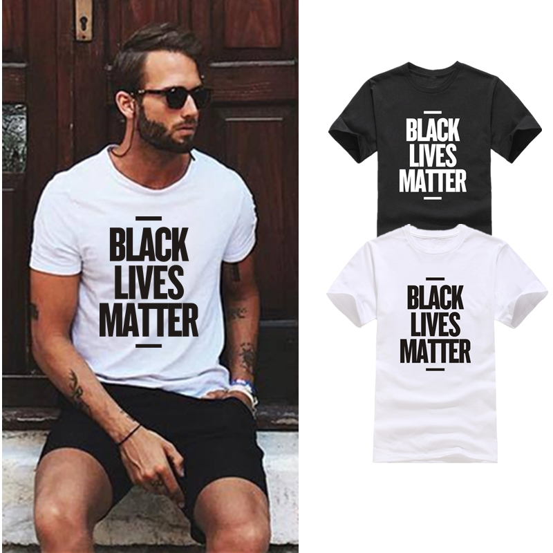 HTB1ofF.OsbpK1RjSZFyq6x qFXa5 - Showtly Black Lives Matter Men's T Shirt BLM Tee Tops Activist Movement Clothing Casual Cotton Short Sleeve
