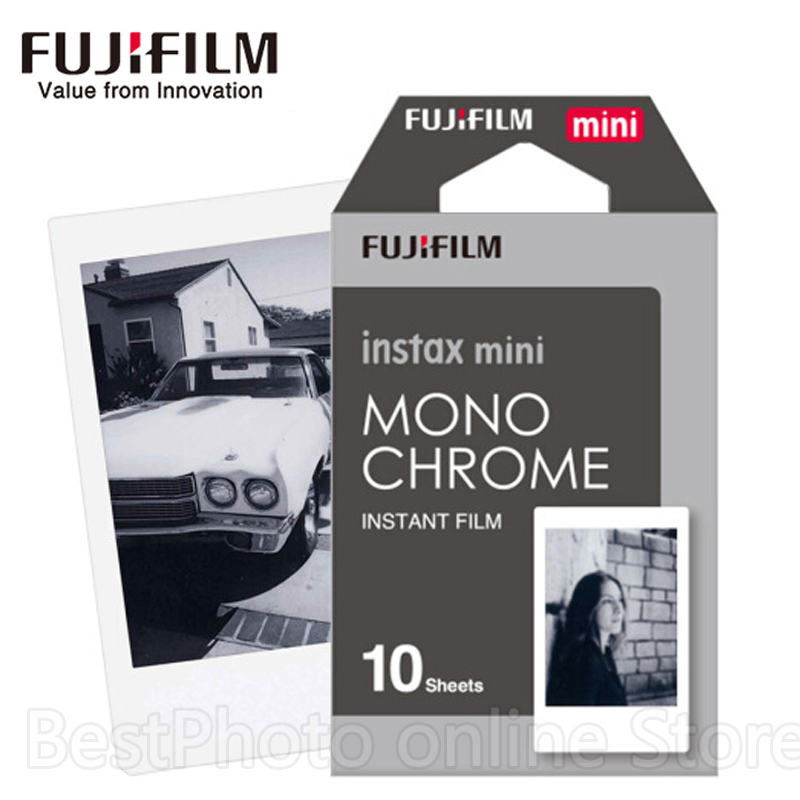 10 Sheets Fujifilm Fuji Instax Mini Black and white Monochrome Film for Instant Camera Mini 8 70 7s 25 50 90 SP1 photo paper fujifilm instax mini 8 black