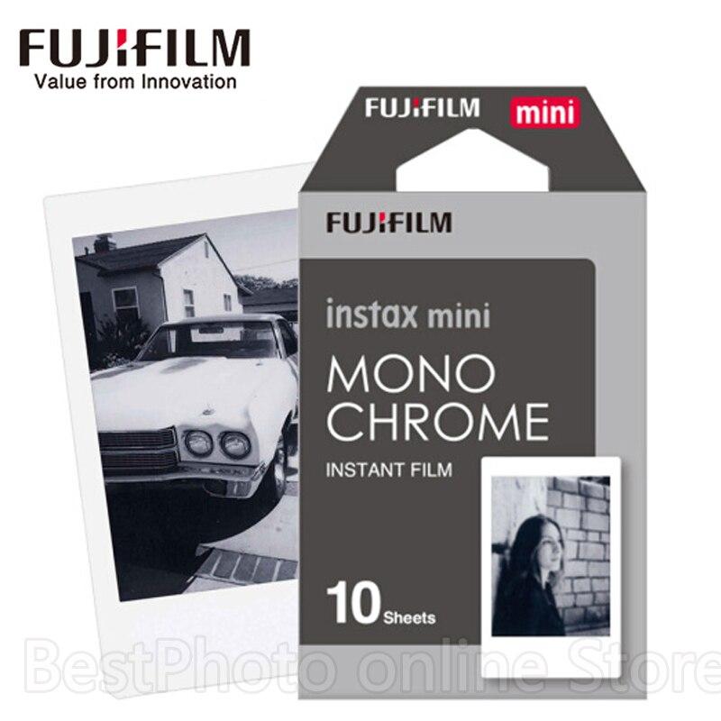 10 Sheets Fujifilm Fuji Instax Mini Black and white Monochrome Film for Instant Camera Mini 8 70 7s 25 50 90 SP1 photo paper