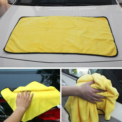 Large Size Car Absorbent Wash Microfiber Towel Cleaning Drying Cloth Super Soft(China)