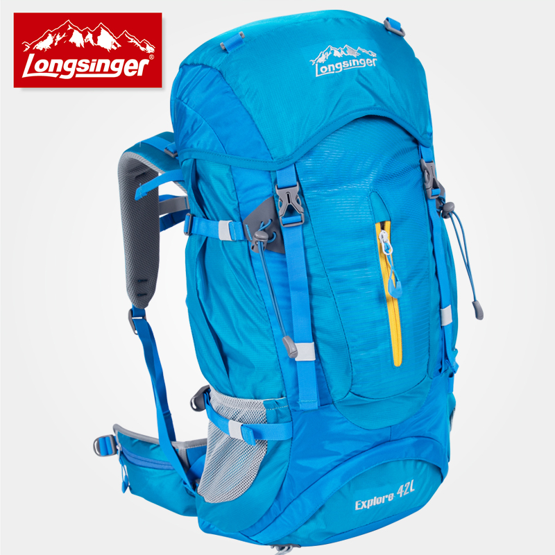 Outdoor backpack professional mountaineering bag 42l large capacity travel hiking backpack camping backpack large capacity outdoor sports backpack travel on foot casual double shoulder mountaineering bag a5104