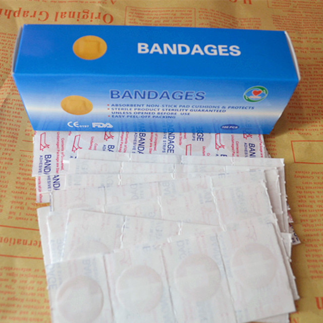 100Pcs/lot New Travel Kits Embedding Postoperative Stickers Bandage Vaccine Paste Mole Removal Round Stickers Band-Aid L-014