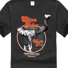 Elton John T Hemd Welt Tour Klavier Handstand Logo Offizielle Mens New Black Md Xl(China)