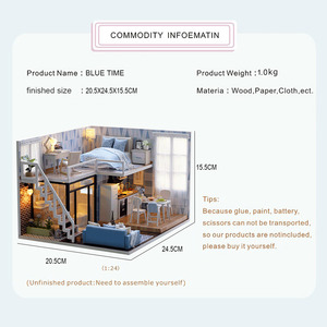 Image 2 - CUTEBEE DIY Doll House Wooden Doll Houses Miniature Dollhouse Furniture Kit with LED Toys for children Christmas Gift  L023