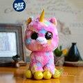 6 ''de la felpa de la gorrita tejida abucheos ty Sinfonía versión muñeca Unicornio gifts25cm Meng Meng lindo pony juguetes de peluche juguetes de peluche