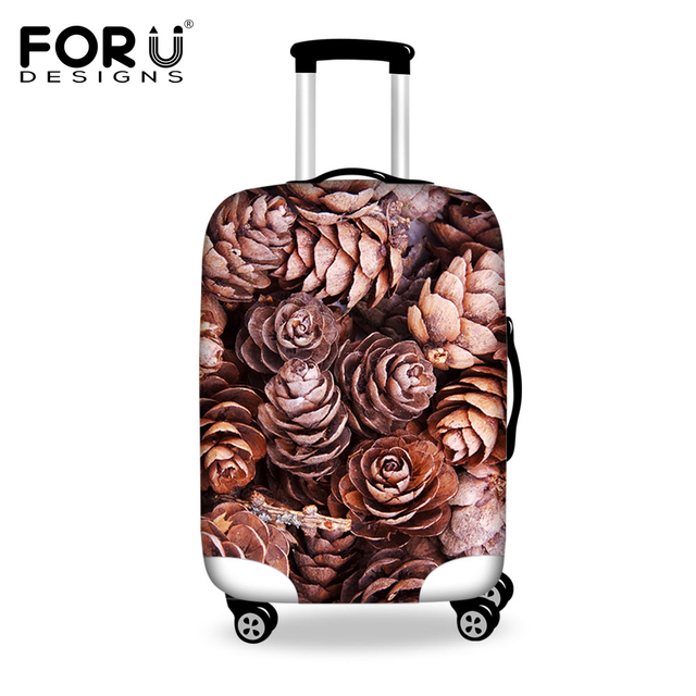 FORUDESIGNS Spandex Luggage Protective Cover For 18-30 Inch Suitcase Trunk Case Flower Rose Waterproof Anti-dust Rain Cover