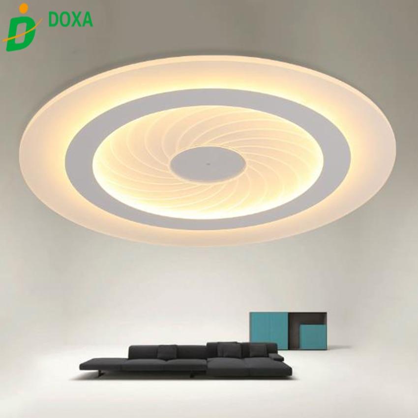 US $85.0 32% OFF|Moderne einfache Led deckenleuchte acryl Ultradünne  Wohnzimmer deckenleuchte plafon schlafzimmer Dekorative lampenschirm  Lamparas de ...