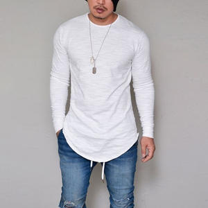 ef7c05393d3b 10 Colors Plus Size S-4XL 5XL Summer Autumn Fashion Casual Slim Elastic  Soft Solid Long Sleeve Men T Shirts Male Fit Tops Tee
