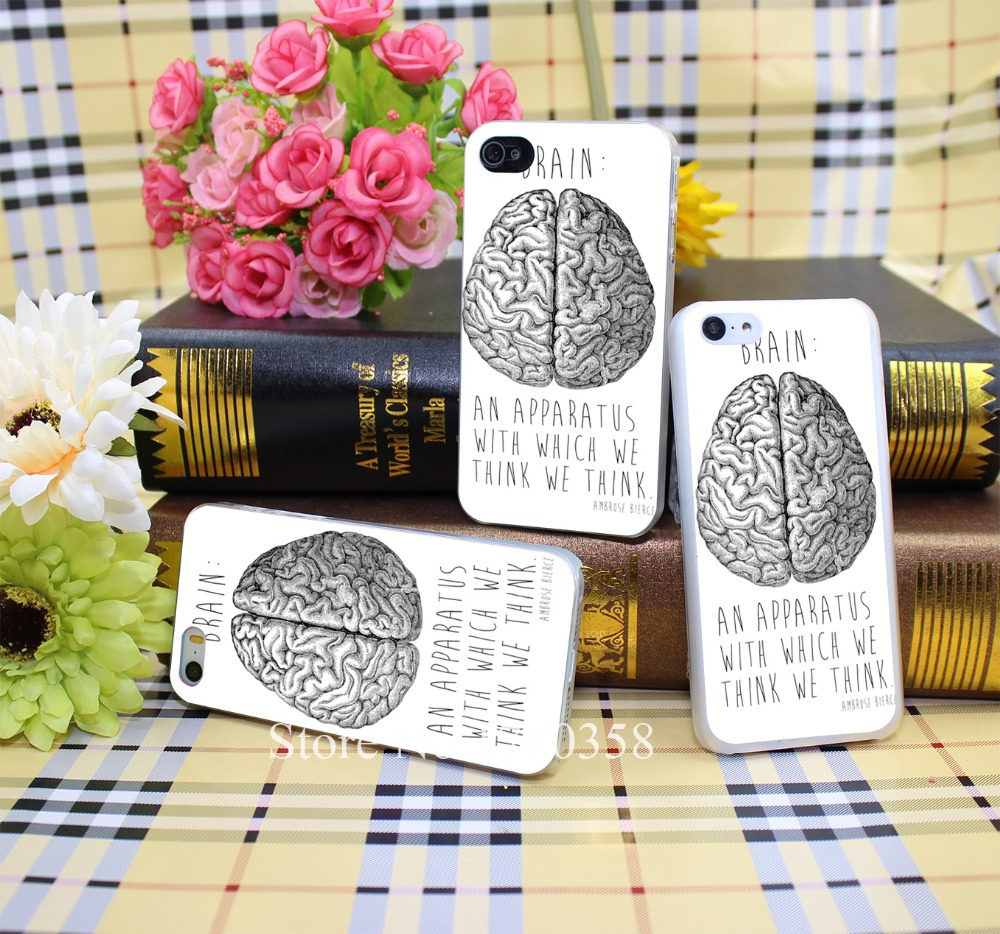 265901N brain Style Hard Transparent Phone Cases Cover for iPhone 7 7 Plus 5 5s 4 4s 6 plus 5c Clear