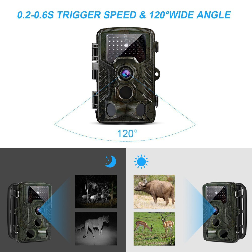Portable Wildlife Trail Camera Hunting Camera 12MP HD Digital Infrared Scouting Camera 940nm IR LED Night Vision Video Recorder digital scouting hunting camera h3 detection trail cameras trap wildlife ir infrared led video recorder night vision hunter cam