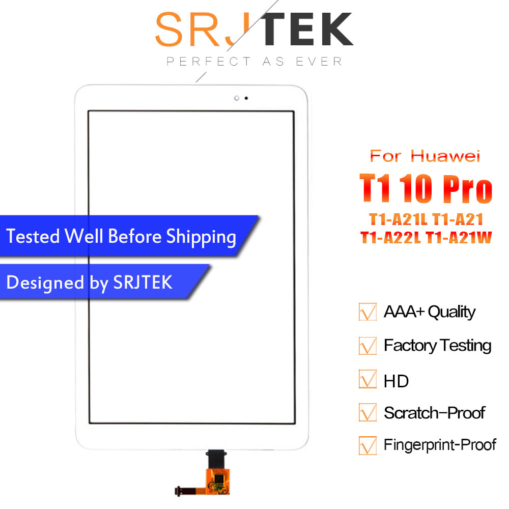 SRJTEK 9.6 Touchscreen For Huawei Mediapad T1 10 Pro LTE T1-A21L T1-A21 T1-A22L T1-A21W Touch Screen Digitizer Glass Panel
