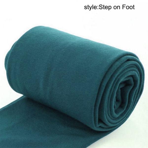Осенне-зимние модные женские теплые флисовые зимние тянущиеся леггинсы с теплой флисовой подкладкой, тонкие теплые штаны BFJ55 - Цвет: Step on Foot Green
