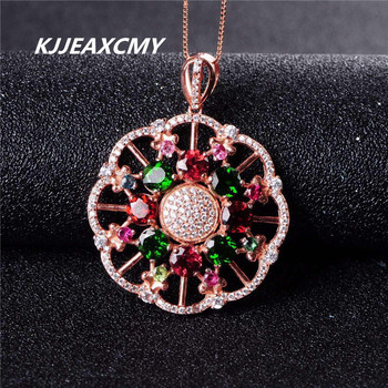 KJJEAXCMY boutique jewelry,Tourmaline female pendants, all net body diopside 5mm garnet, inlaid with 925 Sterling Silver