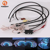 POSSBAY Waterproof 90x120 Colorful LED Under Car Light Auto Chassis Light Kit With Remote Control Underbody