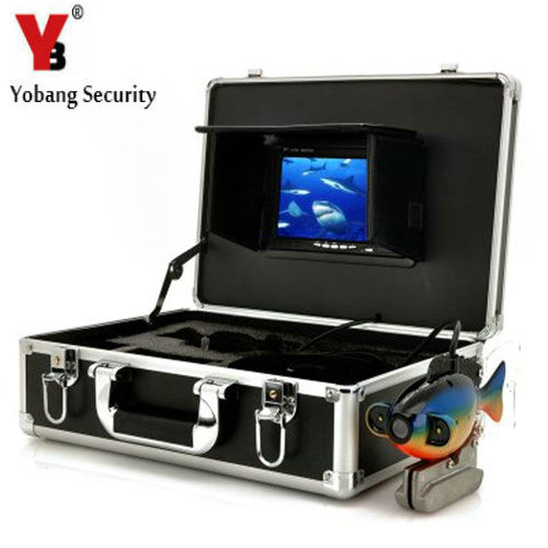YobangSecurity 720P Underwater Fishing Camera Video Fish Finder 7 inch LCD Monitor 20m-50m Cable Visual Camera with DVR Recorder 8pcs led light fishing breeding monitoring 600tvl camera with 15m cable work for new 3 5 inch lcd underwater video camera system