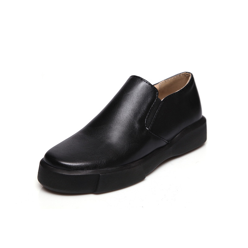 Casual Casual Casual salvaje Descuento por tiempo limitado Bonjomarisa Women'S Slip On Black White Shoes Woman Comfortable Flat Sole Spring e23eac