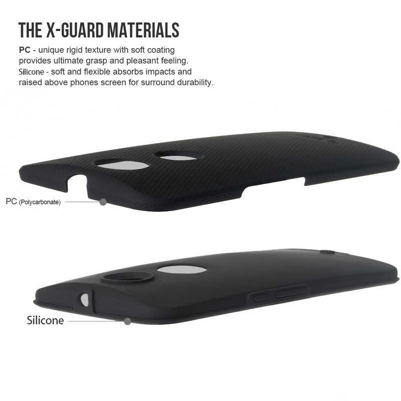 TOIKO × ガード PC モトローラ Moto ネクサス 6 デュアルレイヤーハイブリッド電話ドロップ保護鎧携帯シェル