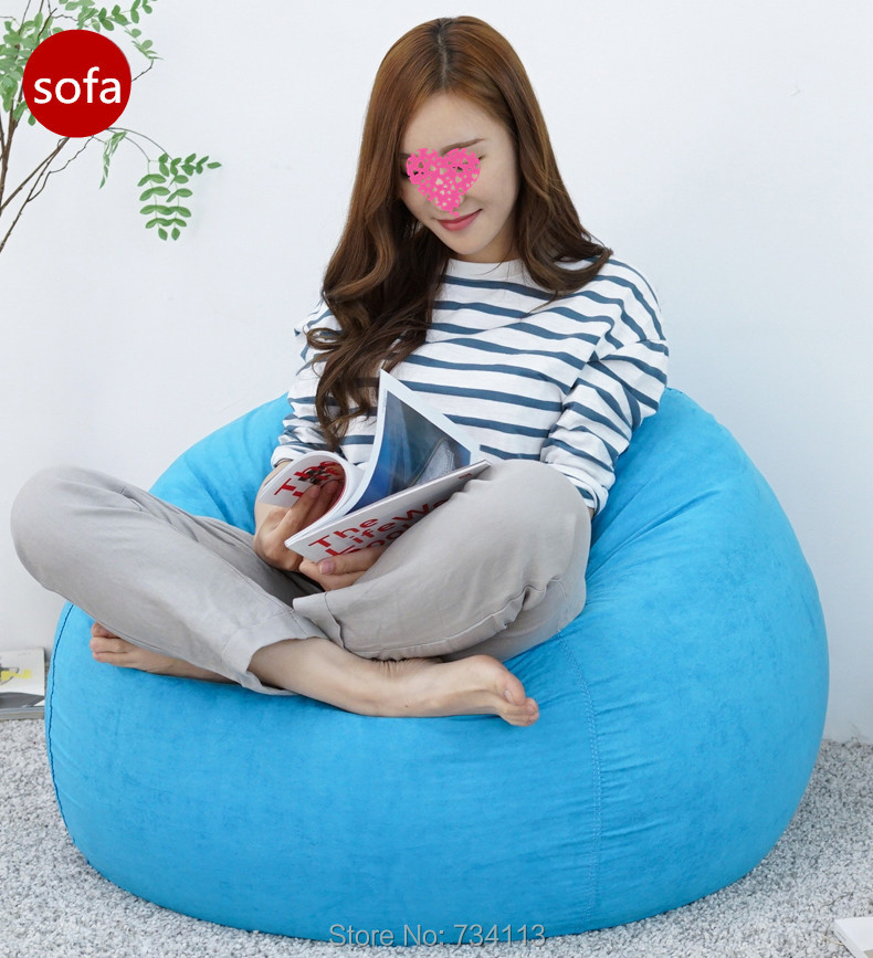 Lazy sofa Soft sofa chair flocking bed living room furniture urniture Bean bag Filler of Styrofoam particles lazy sofa 80*80 cm private villa living room chair retail