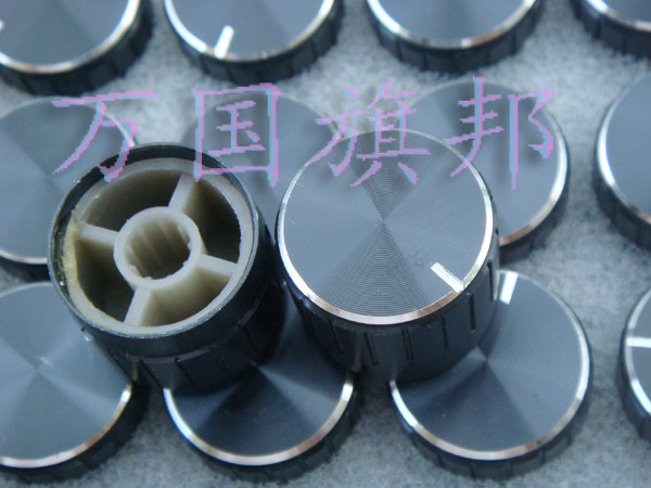 The Free Delivery. Potentiometer Knob Black Lace Aluminum Knob High 17MM Diameter 23MM 23*17MM