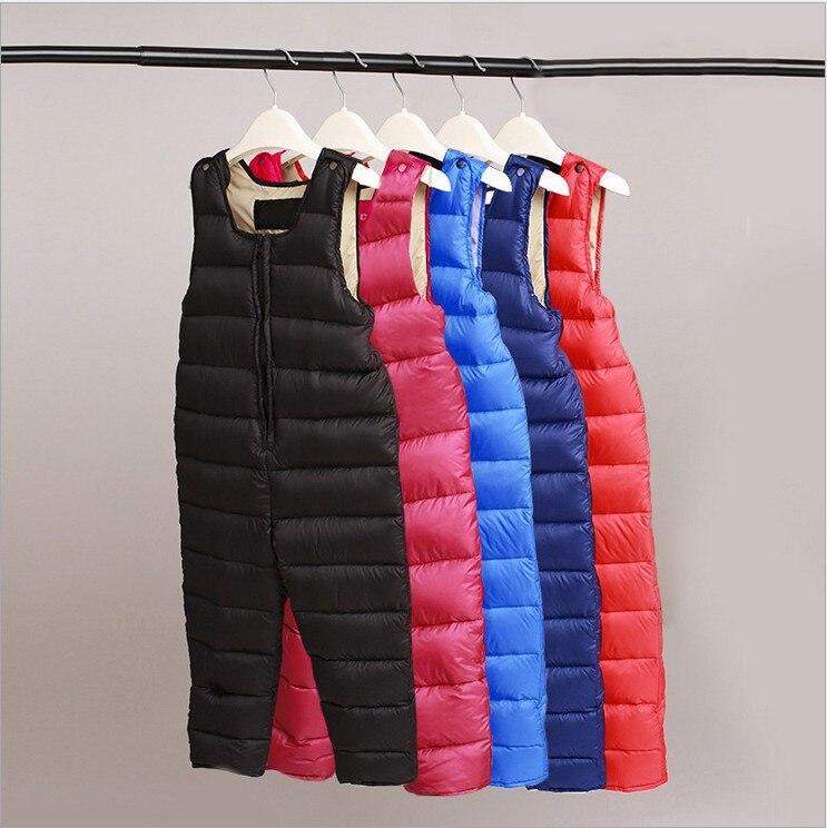 цены на Children Winter Clothes baby Girl boy kids Ski suit set infant jumpsuit rumper pants -30 degree white duck down fluff toddle в интернет-магазинах
