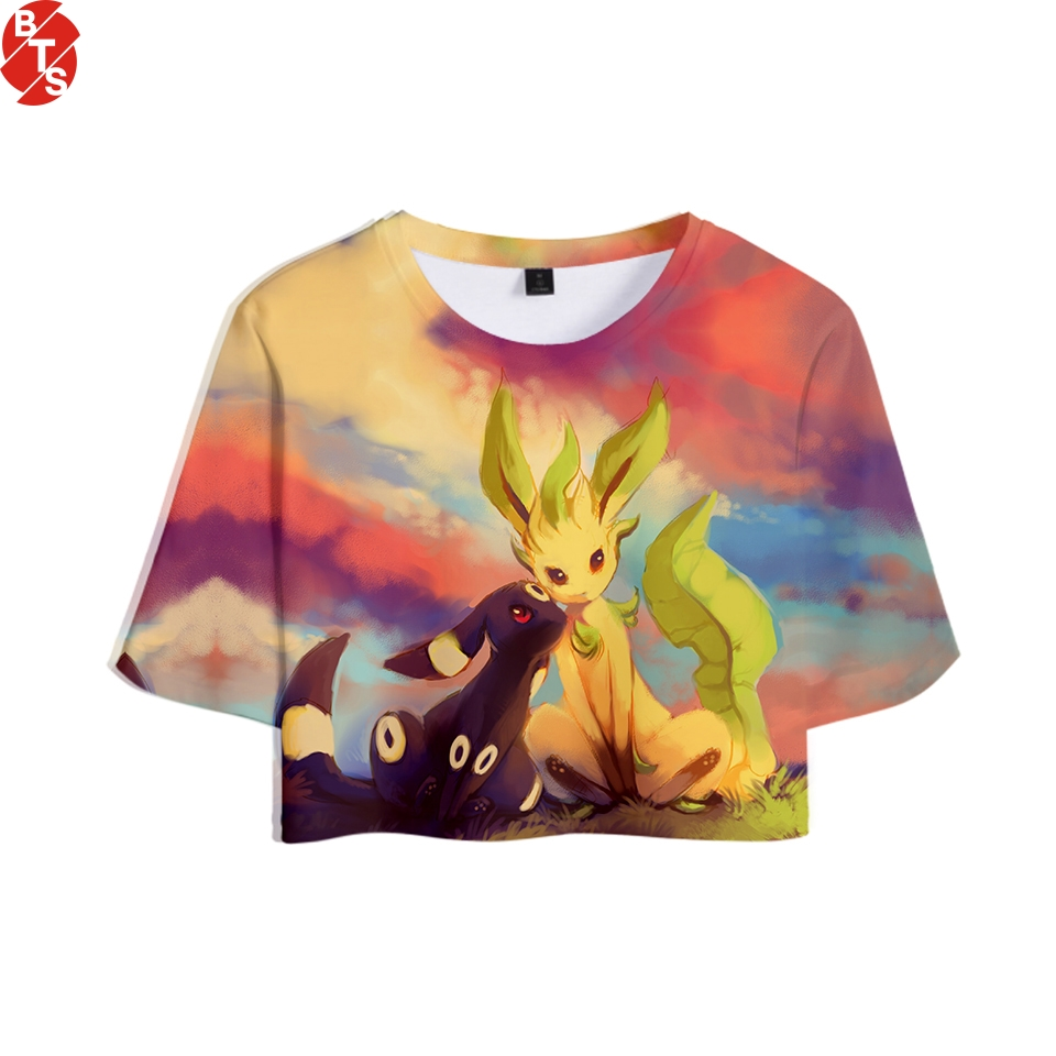 fa77c64a3d4bd Detail Feedback Questions about Pokemon 3D Printed 2018 Hot Sale Women  Summer Crop Tops Short Sleeve Tredy T shirts Casual Fashion Anime Girls  Sexy Tee ...