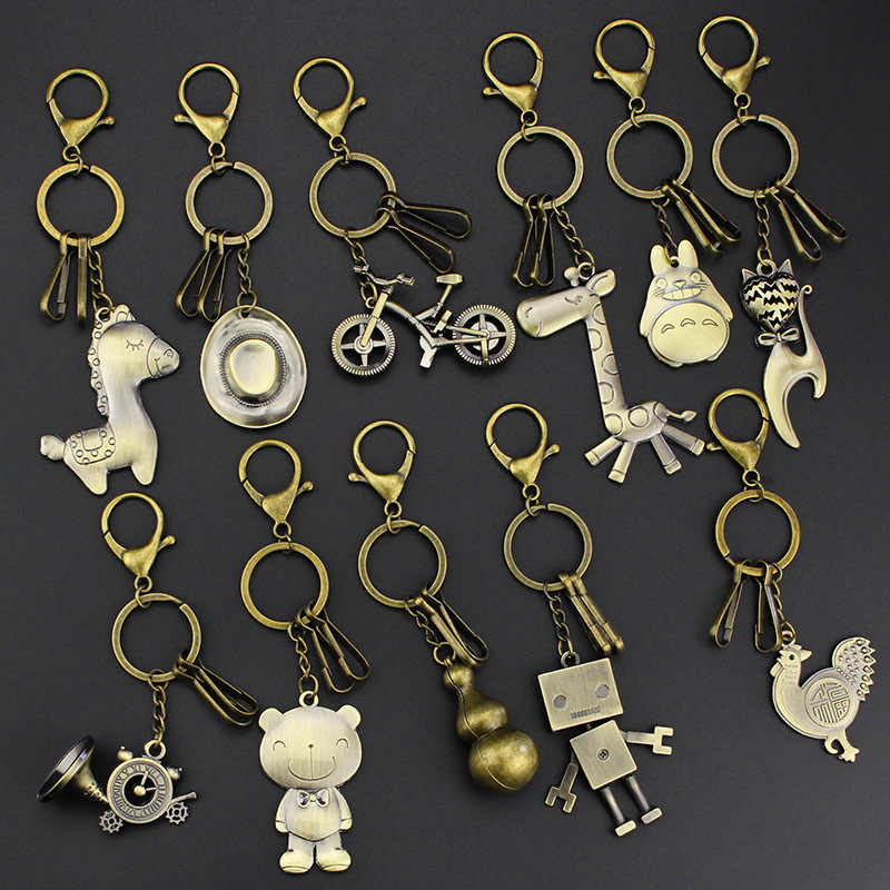 Для мужчин аксессуары для детей милые сплава робот-брелок творческие украшения подвеска на ключ от автомобиля цепи детская и взрослая Chaveiro подарок на день рождения