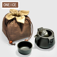 One Passenger Cup Ore Purple Pouch Travel Portable Office Tea Pot Glass Teapot Chinese Gongfu Style