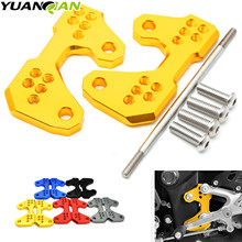 Motorcycle Accessories CNC Aluminum Motorcycle Rearset Base Foot Pegs Rear For Yamaha YZF R3 R25 MT-03 2015 2016