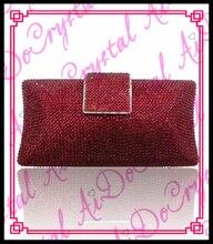 Aidocrystal handgemachte kristall klassiker roten abend handtaschen damen geldbörse