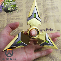 14cm Hot Game OW Watch Over Genji Hand Spinner Metal Weapon Darts Shuriken Gamer Fans Cosplay