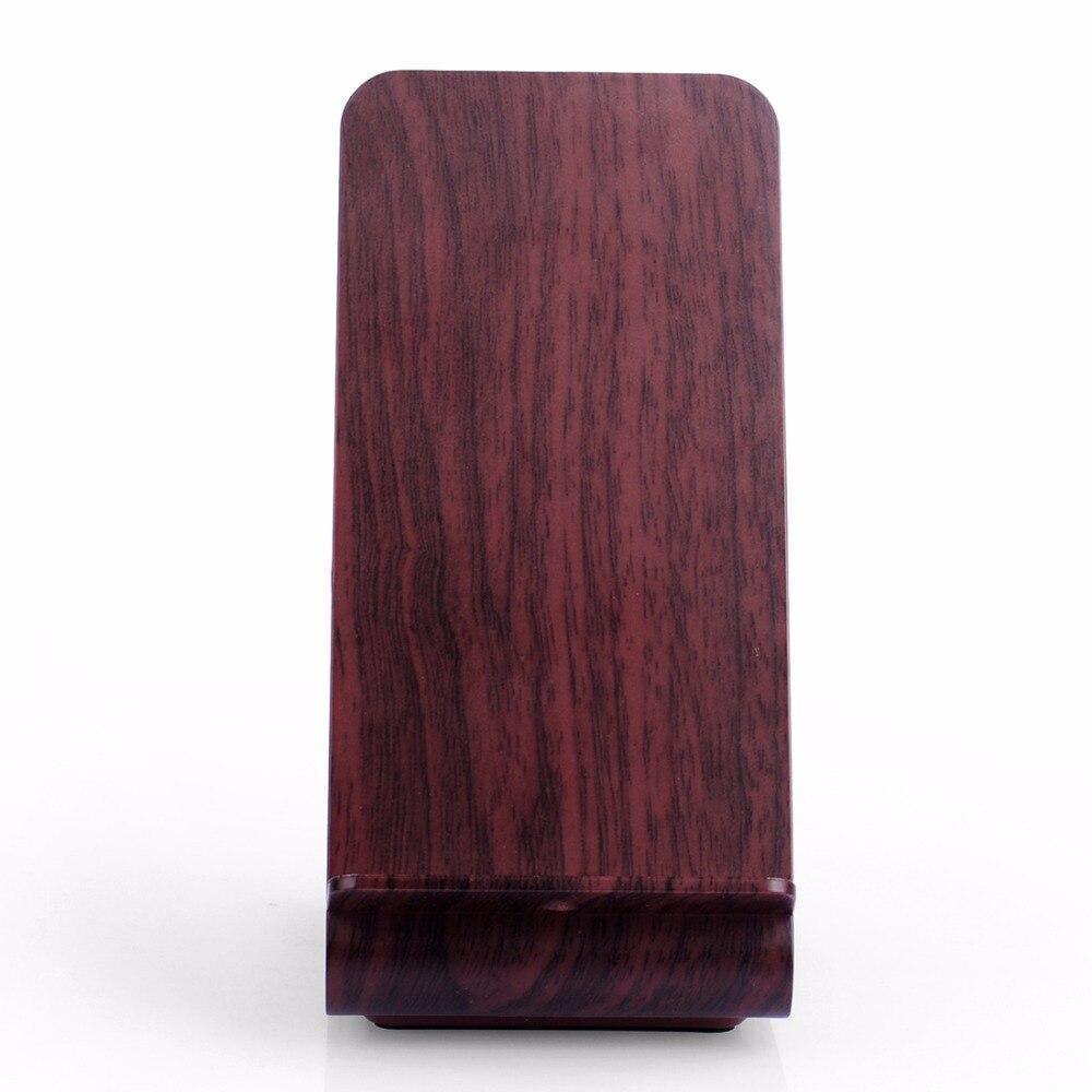 Wood Grain Stand Itian A8 Cargador inalámbrico rápido para iPhone 8 - Accesorios y repuestos para celulares - foto 3