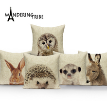 Cartoon animal cushion cover outdoor cushions Custom throw pillows owl pillow  decorative Dropshipping