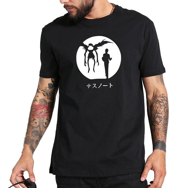 Death Note t shirt Anime Popular Cartoon Fashion Summer Tops Homme High Quality Pure Cotton Streetwear t-shirt Leisure