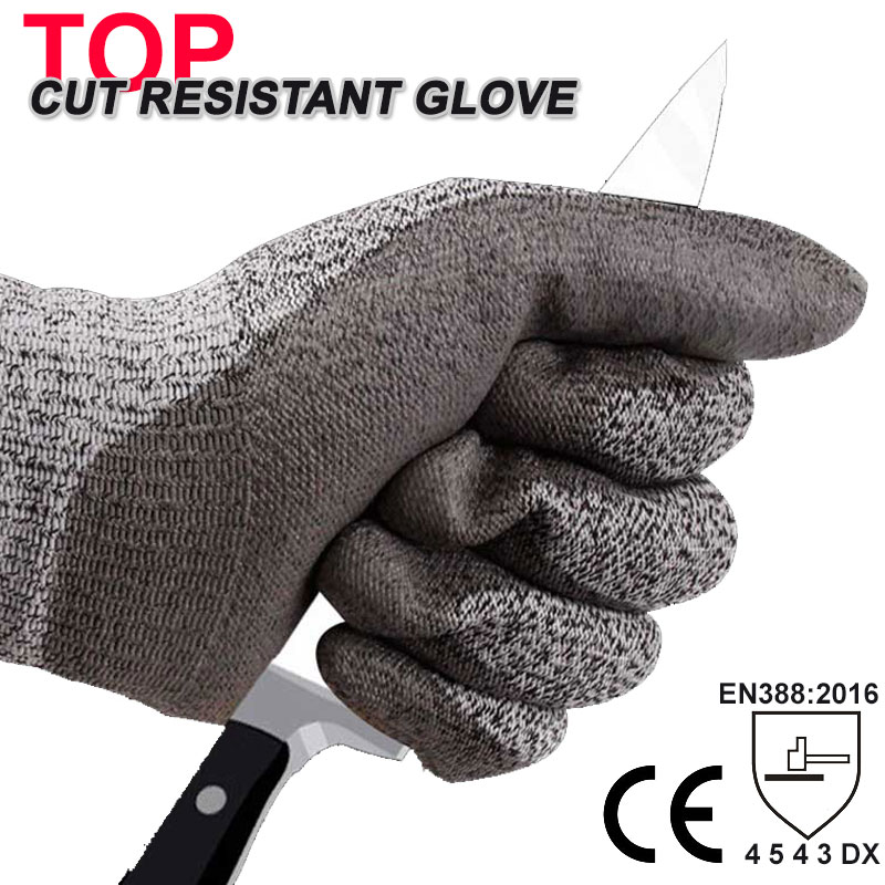 NMSafety Cut Resistant Work Glove Glass Handing Butcher Labor Glove HPPE Anti Cut Safety Glove