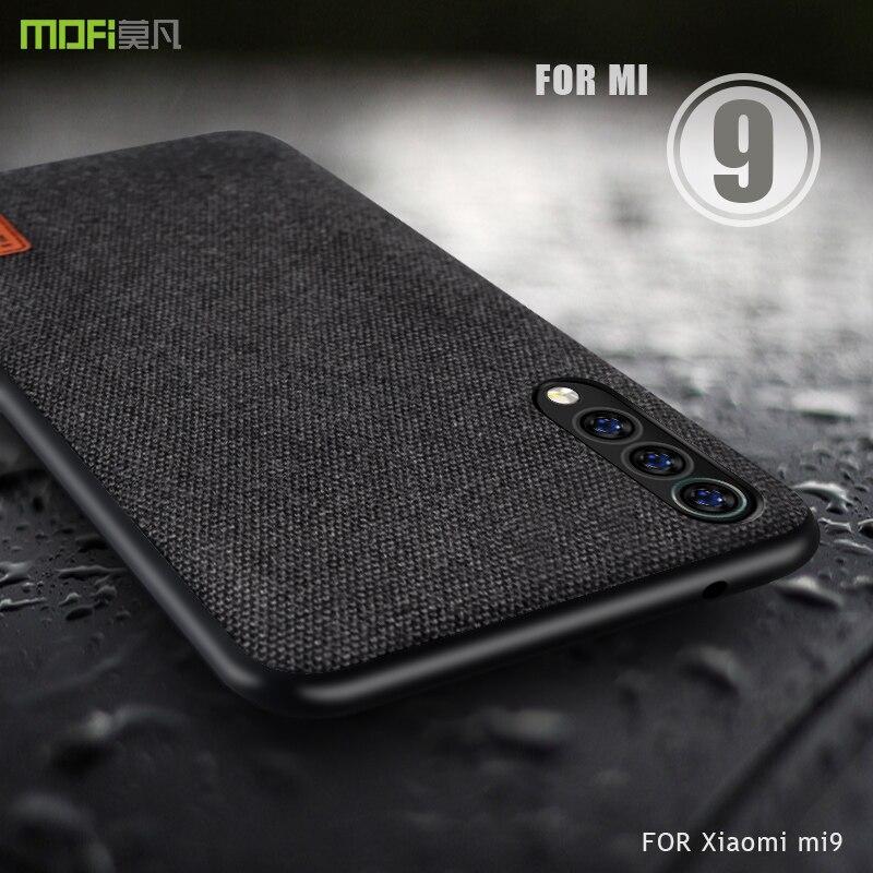 ため xiaomi mi 9 ケースカバー Mofi xiaomi mi 9 エクスプローラバック生地ケース xiaomi mi 9  SE のための 4s mi 9 ビジネスケース -    グループ上の 携帯電話