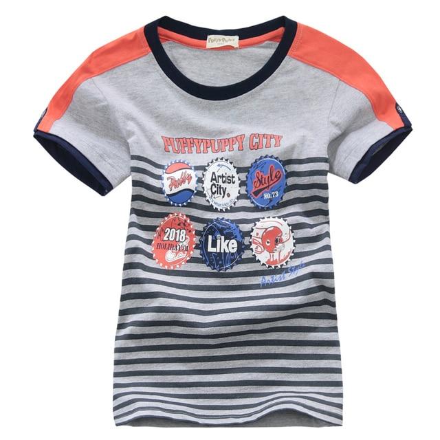 ok Freeshipping summer Children child Boy Kids baby gray  white badge pattern short sleeve gengtleman cotton T shirt  PDXZ01P07