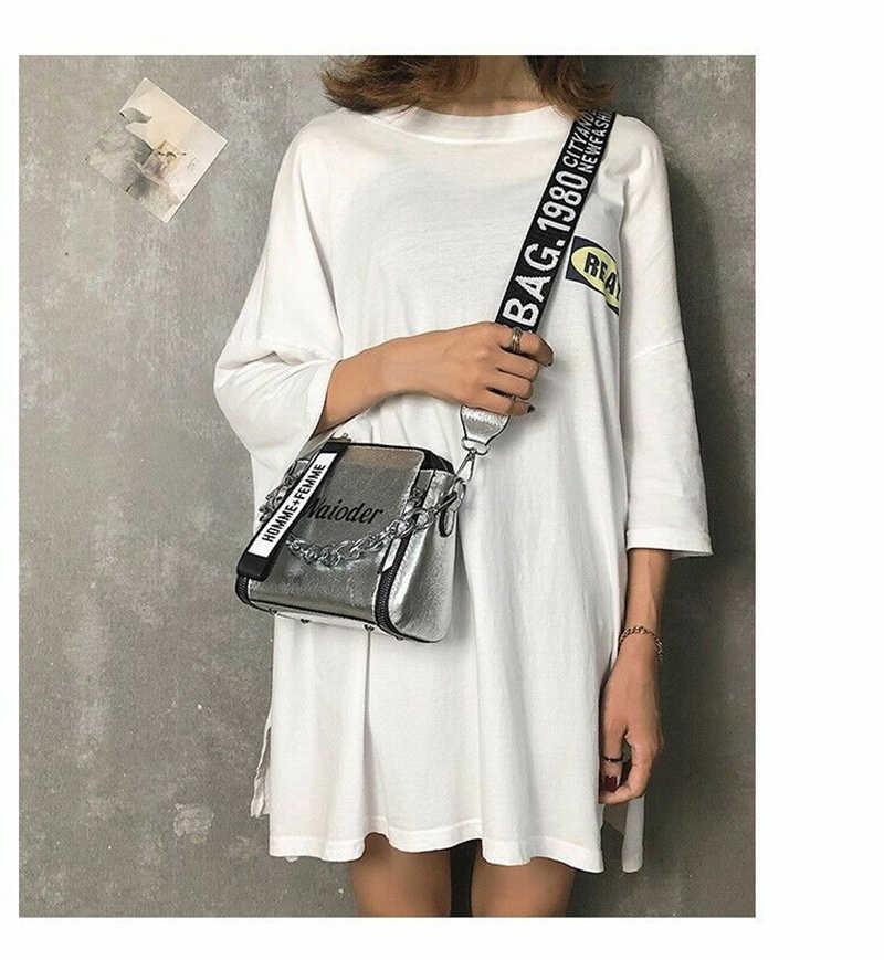 Baru Wanita Fashion Panas Desain Unik Tas Tas Bahu Dompet Fashion Surat PU Kulit Messenger Tas Ponsel