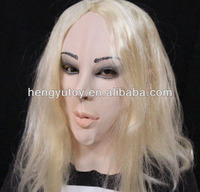 Hot Selling Adult Size High Quality Cosplay Transgender Party Fancy Dress Latex Female Mask