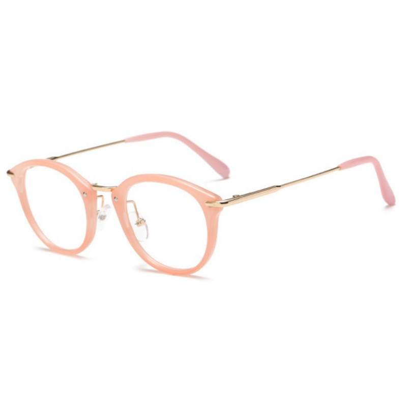 2019 New Women Glasses Frame Men Eyeglasses Frame Vintage Round Clear Lens Glasses Optical Spectacle Frame in Women 39 s Eyewear Frames from Apparel Accessories