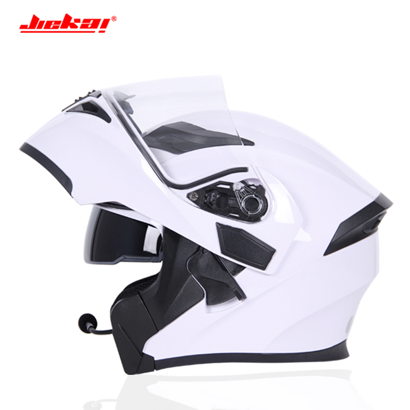 Motorcycle Helmet Bluetooth Double Visor Flip Up Helmet
